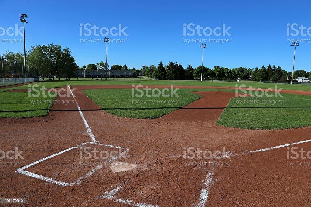 Open Baseball Field stock photo