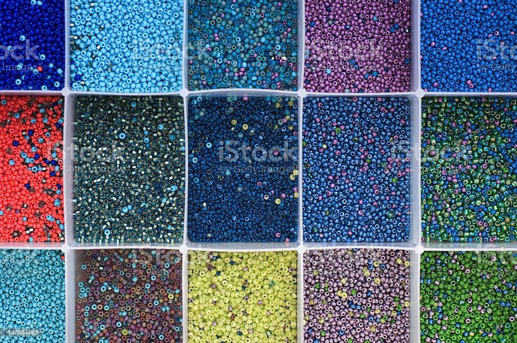 Open bead container stock photo