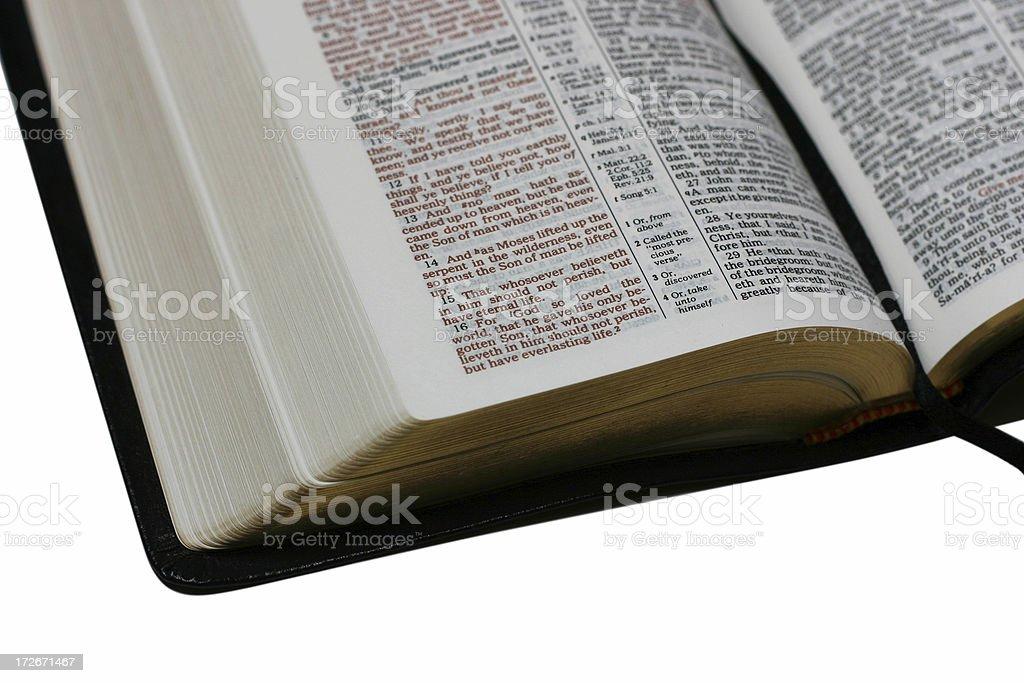 Open bible 1 stock photo