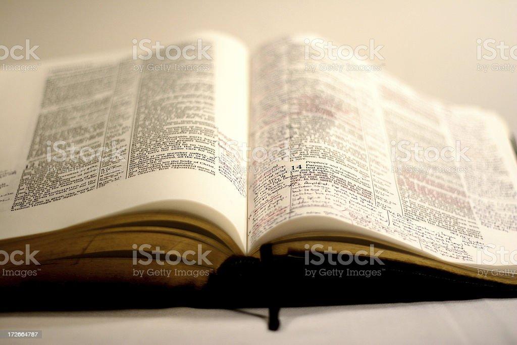 Open Bible 2 stock photo