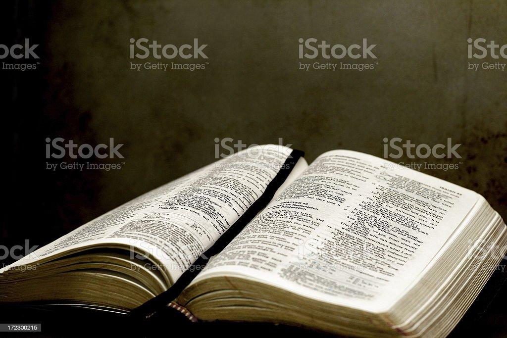 Open Bible stock photo