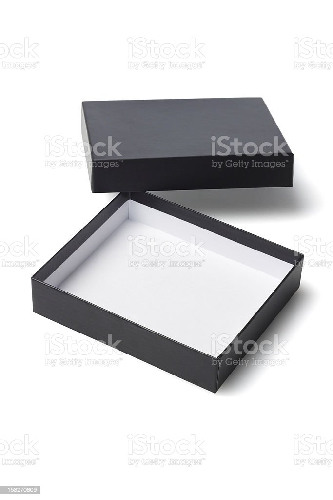 Open Black Gift Box royalty-free stock photo