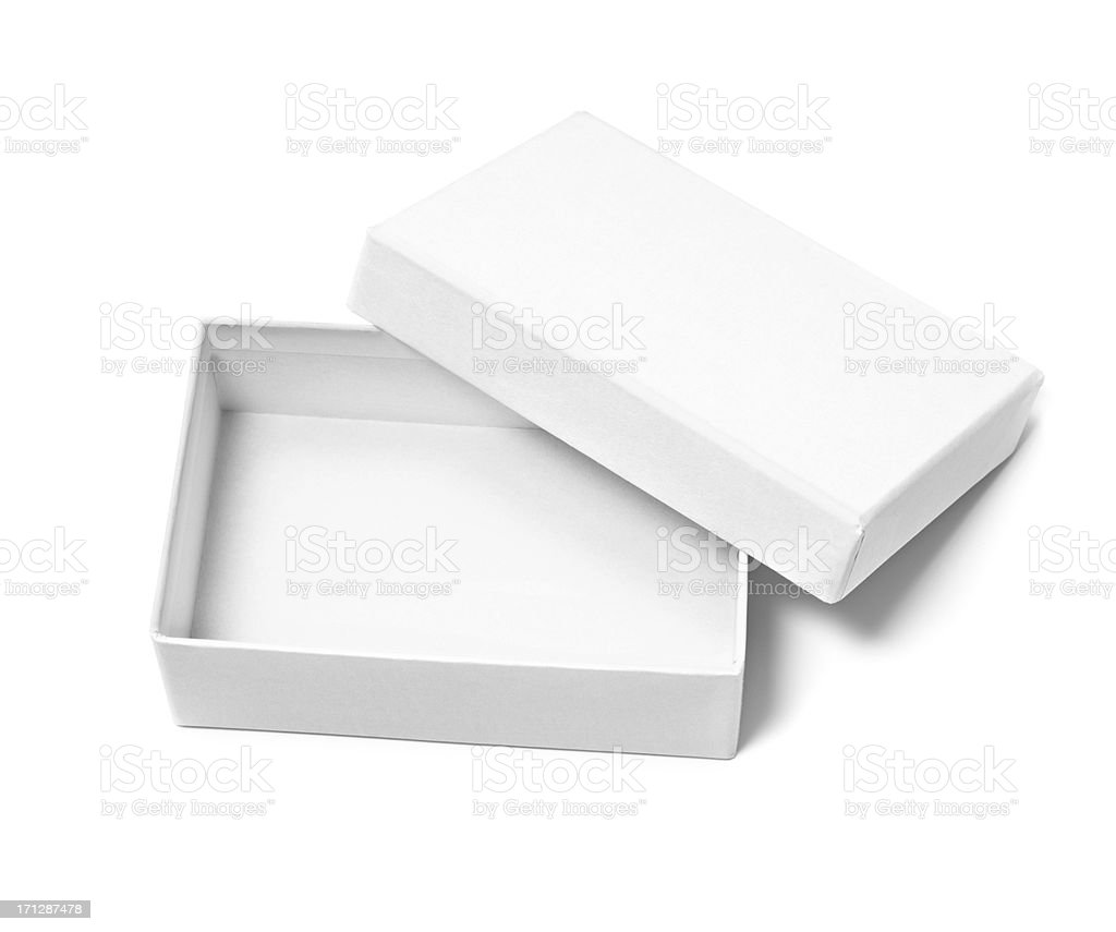 Open blank box stock photo