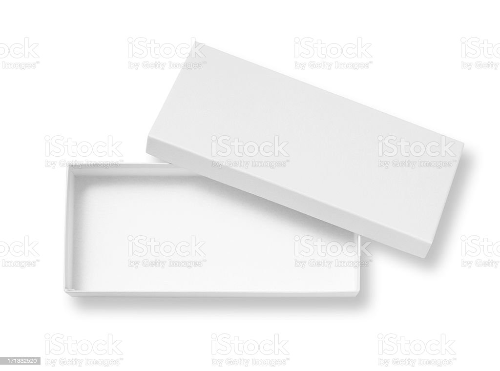 Open blank box royalty-free stock photo