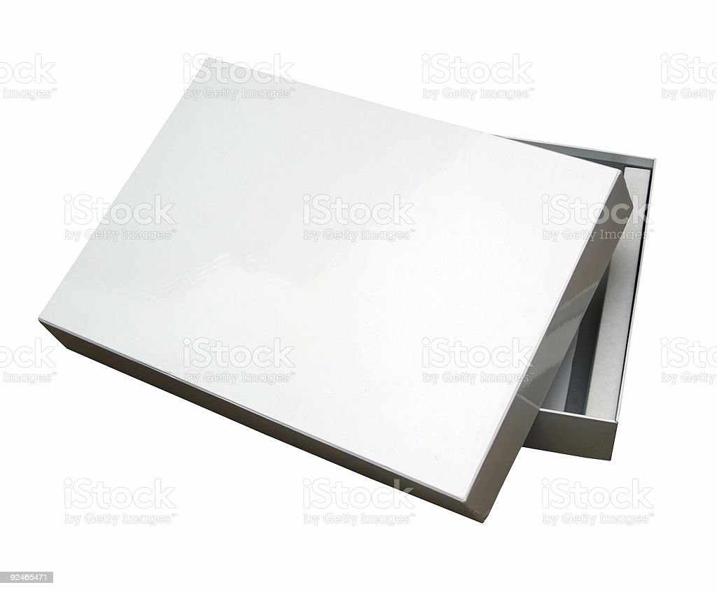 Open blank box w/ path royalty-free stock photo