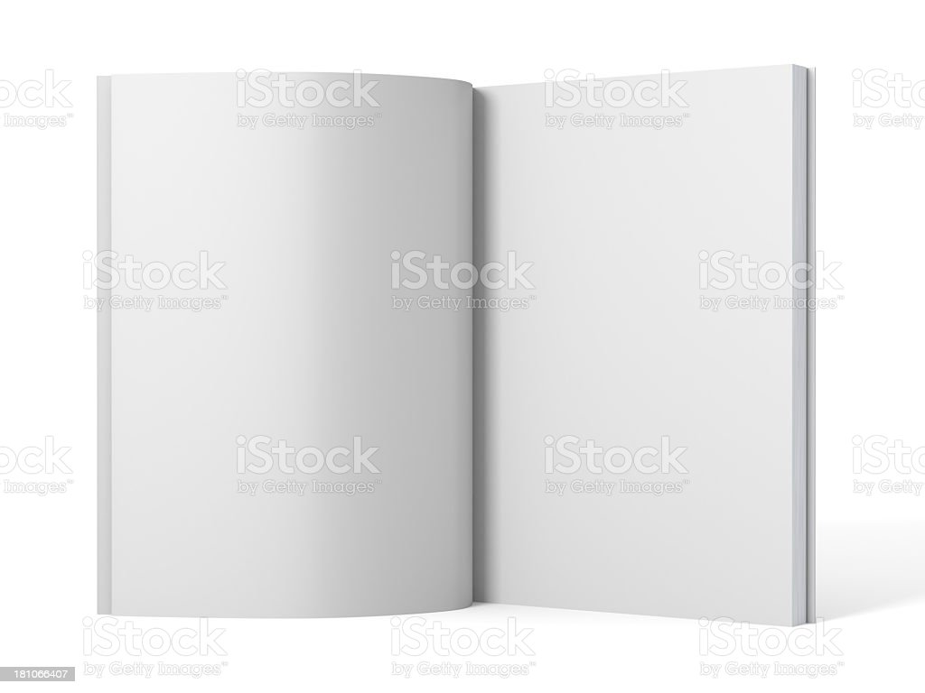 Open blank magazine template book royalty-free stock photo