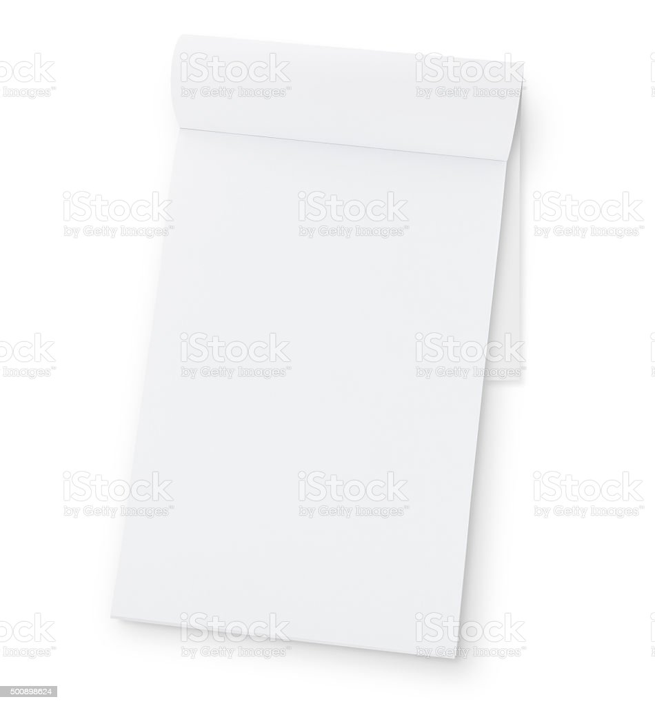 Open Blank Note Pad (with path) stock photo