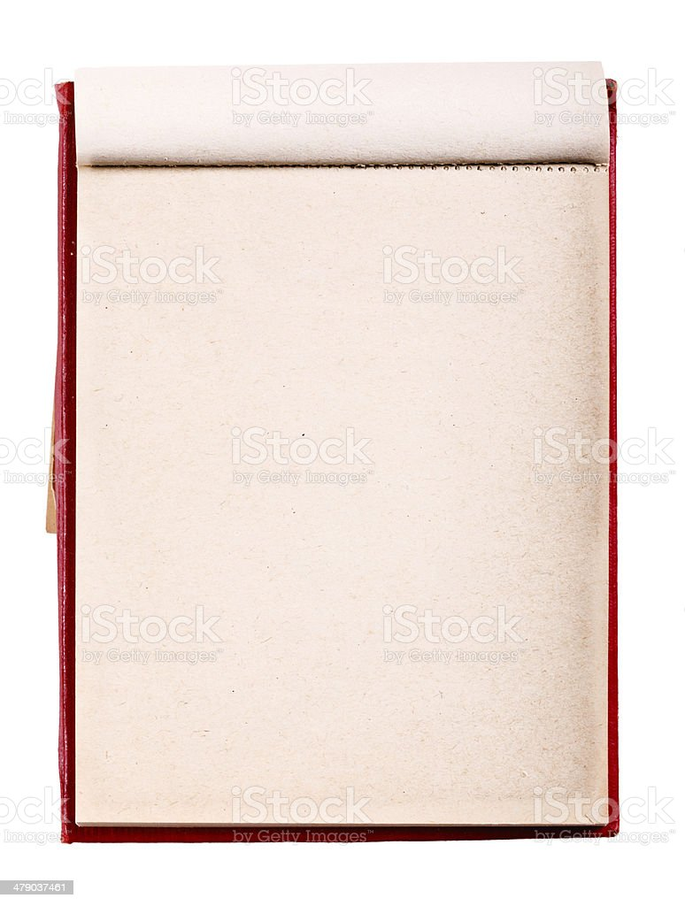 Open Blank Page Notebook. Old Paper Notepad royalty-free stock photo