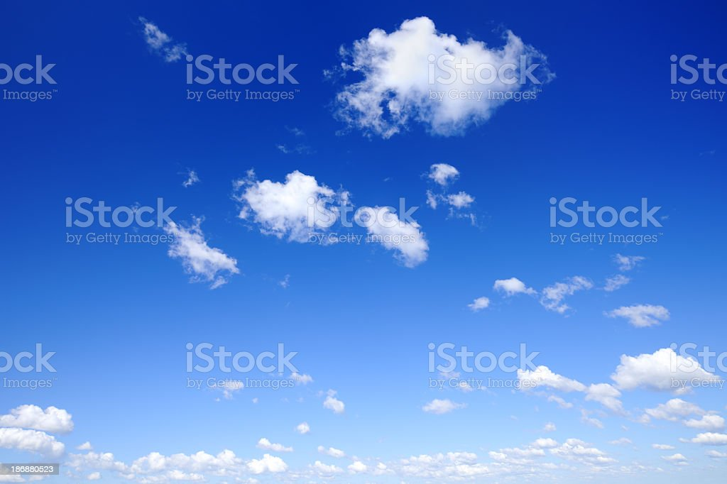 Open blue sky with white clouds royalty-free stock photo