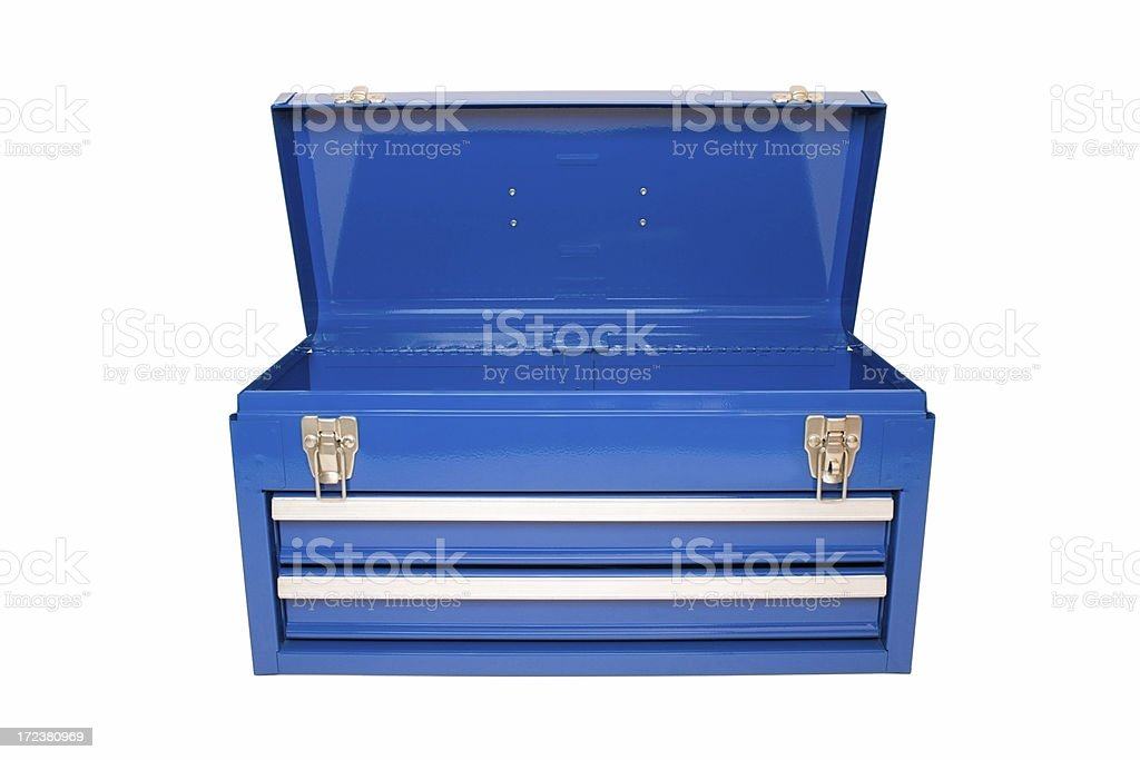 Open Blue Toolbox stock photo