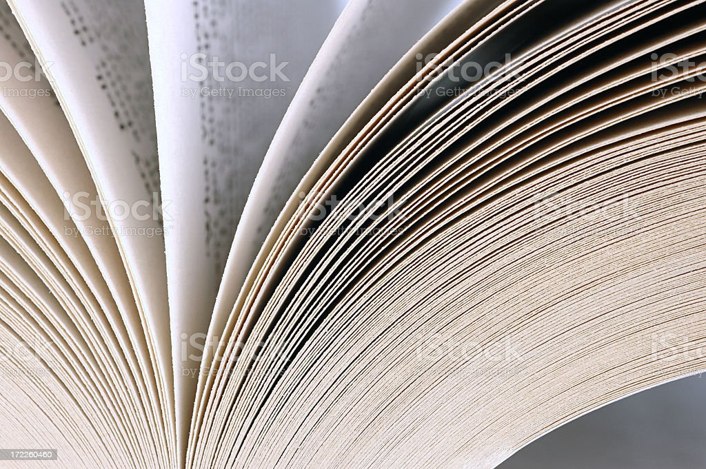 Open book closeup royalty-free stock photo