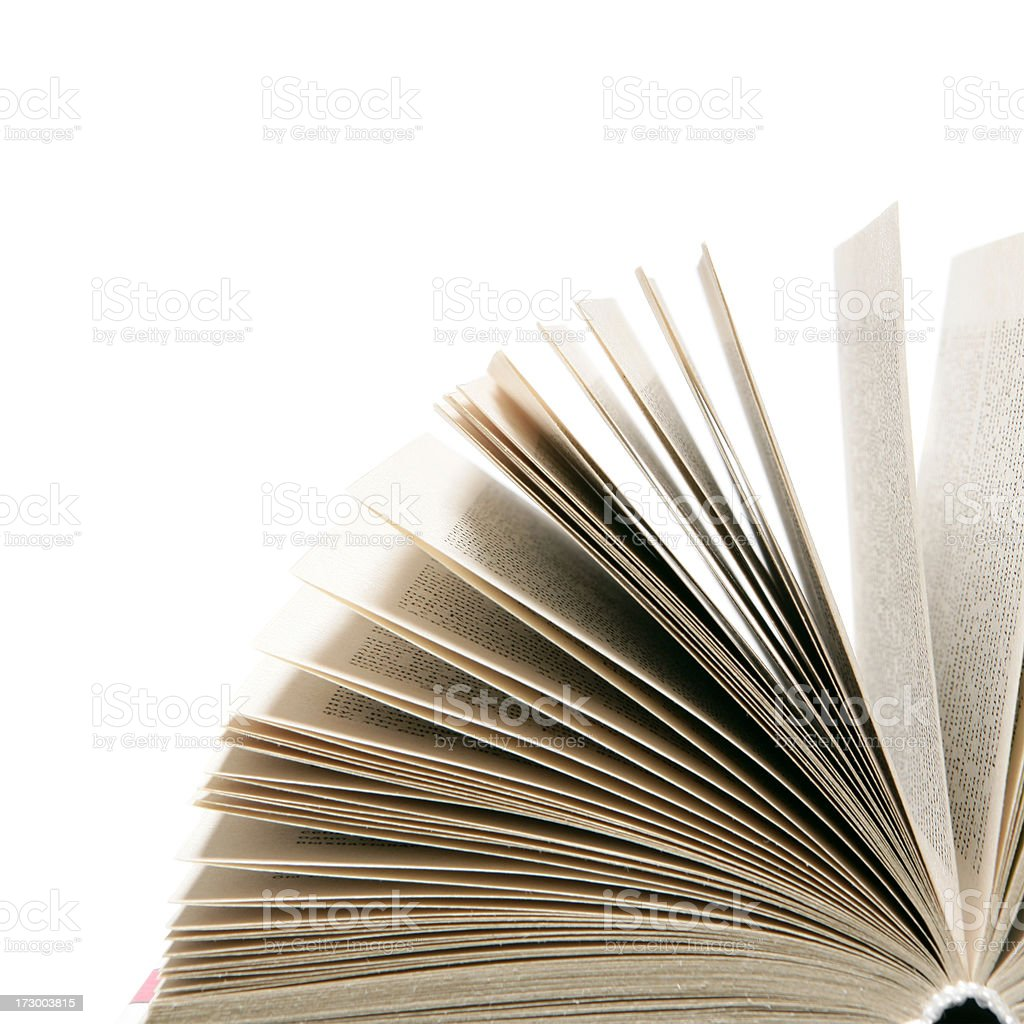Open book close-up royalty-free stock photo