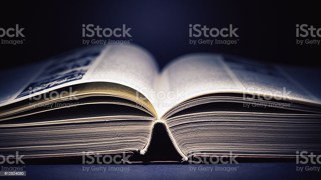 Open Book Details stock photo