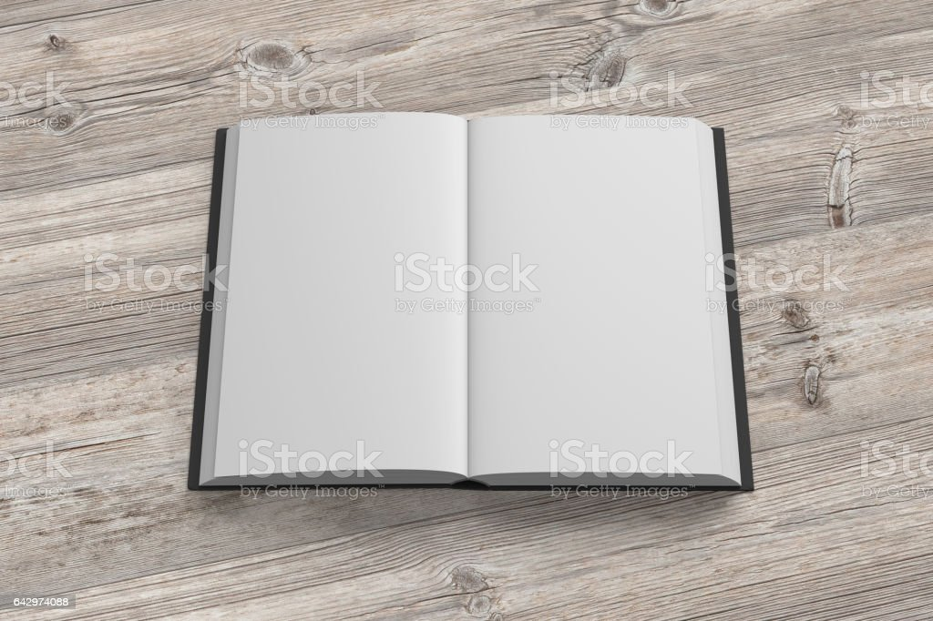 Open book isolated stock photo