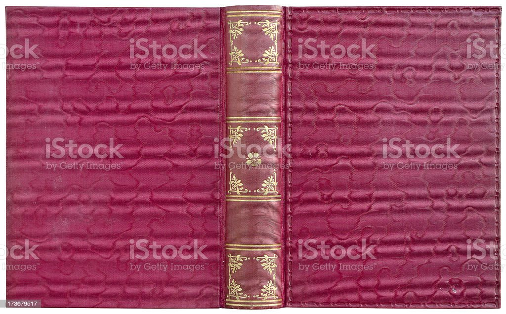 Open book - red stock photo