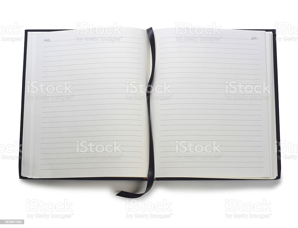 Open Book with Bookmark royalty-free stock photo