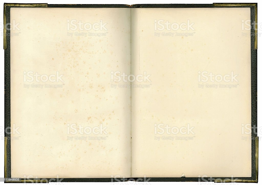 Open Book with metal corners royalty-free stock photo