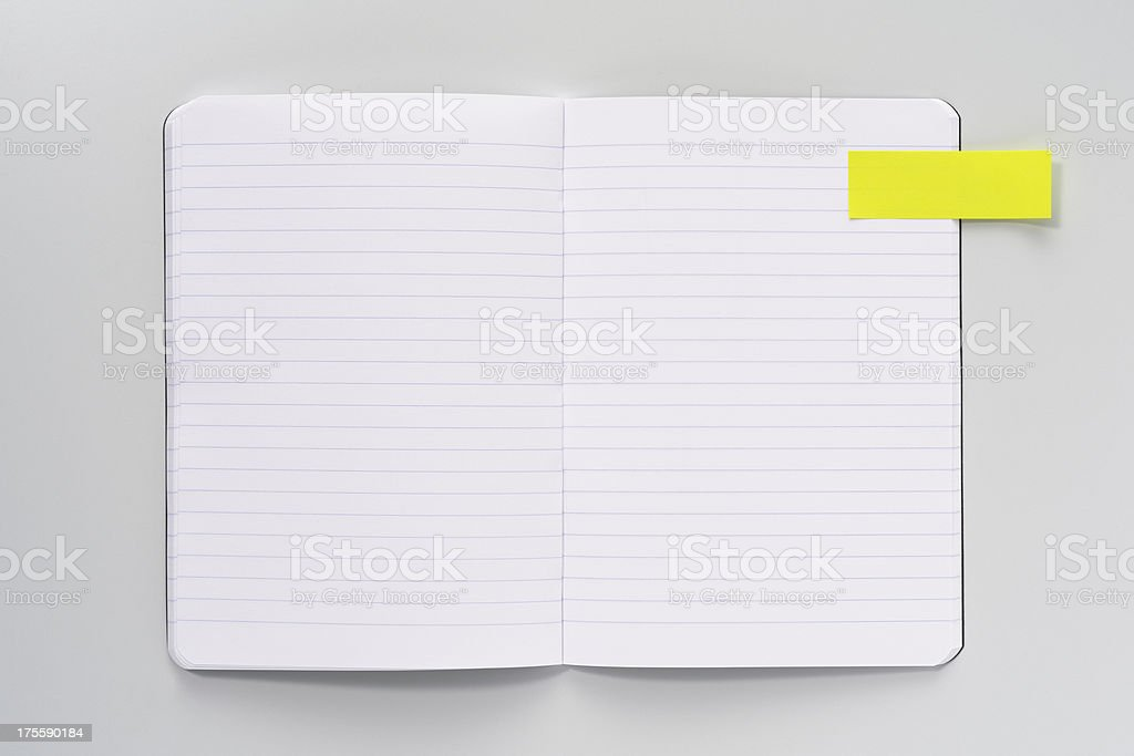 Open Book with Post-it stock photo