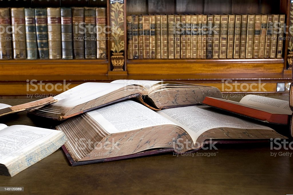Open books royalty-free stock photo