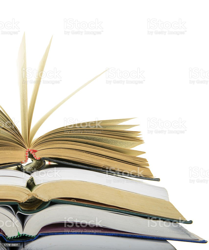 Open books royalty-free stock photo