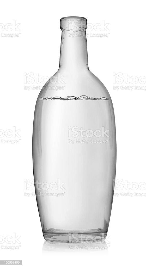 Open bottle of vodka stock photo