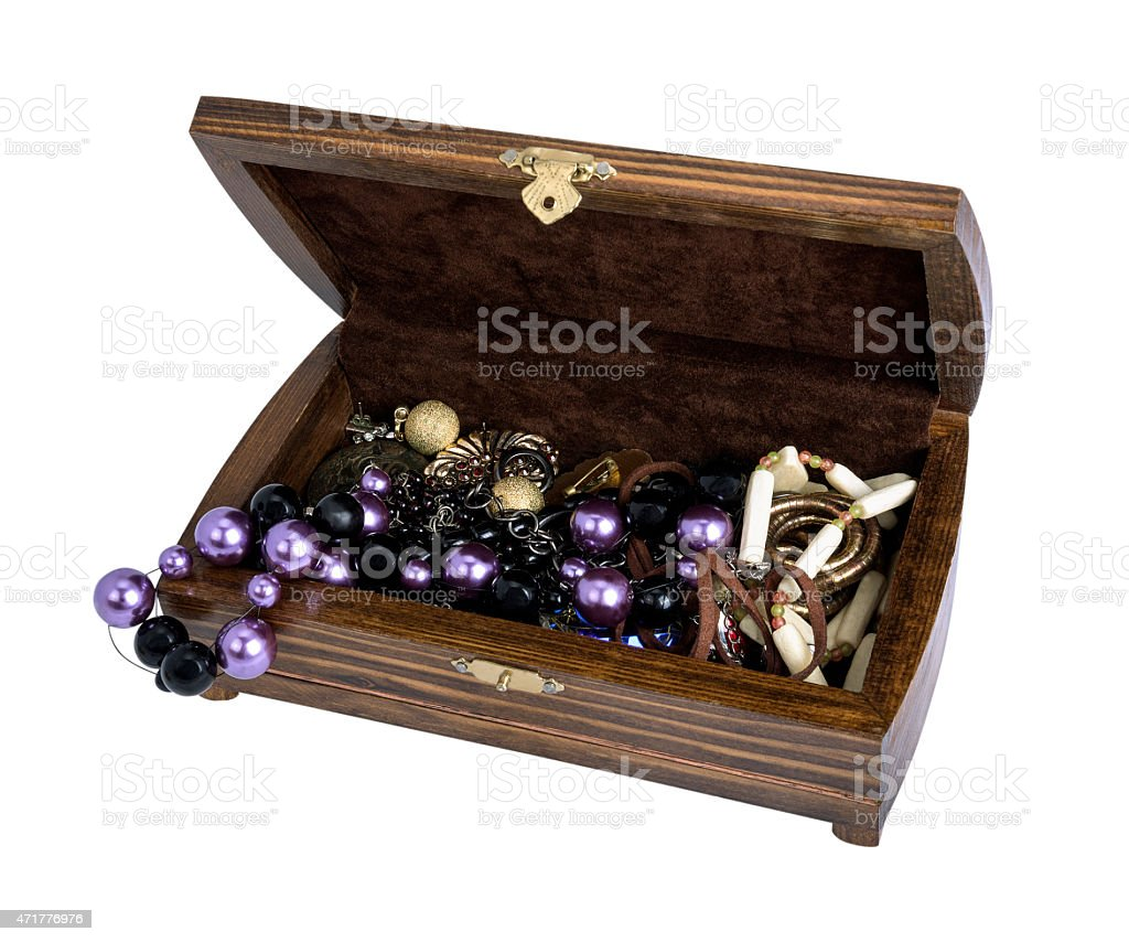 open box for jewelry stock photo