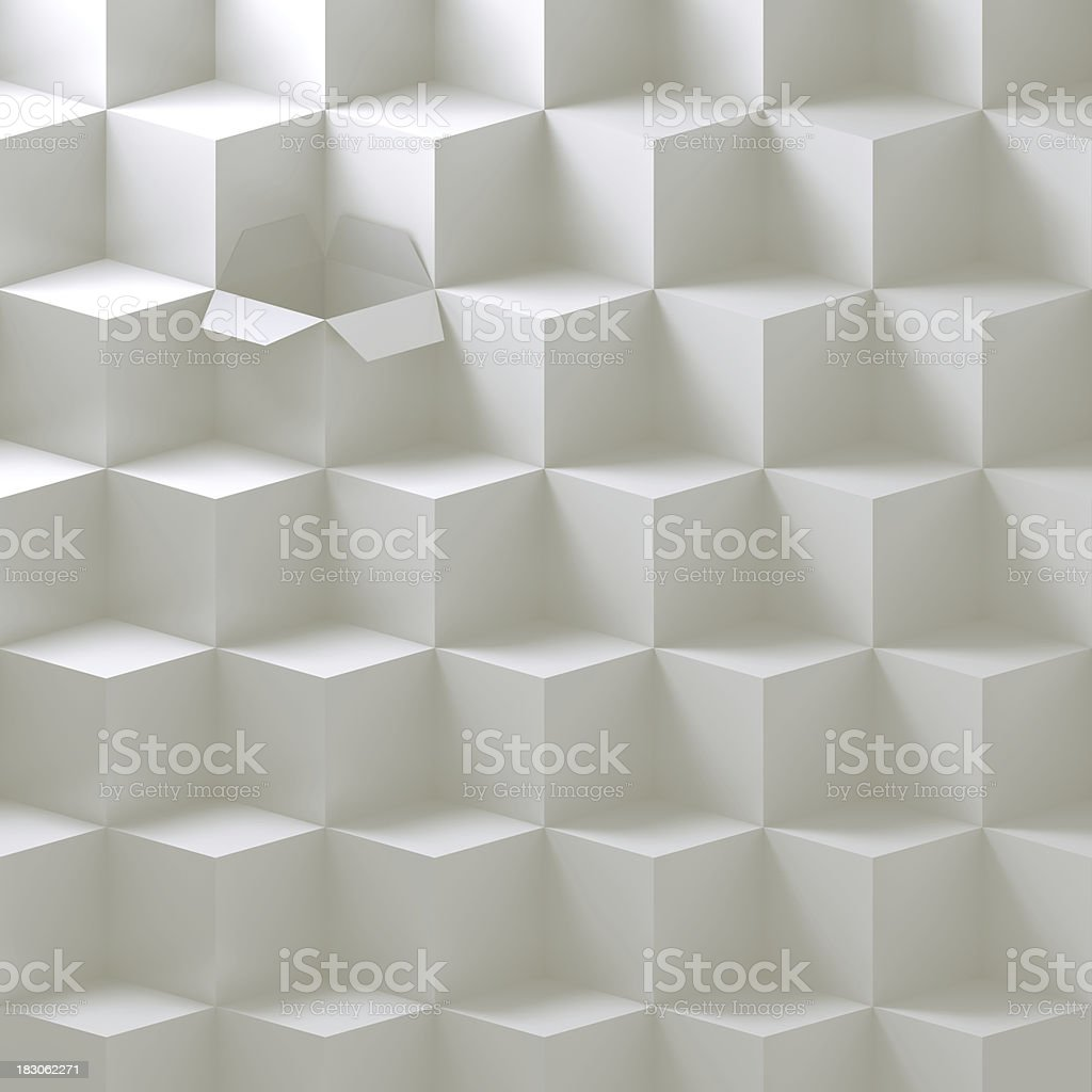 Open box in a stack stock photo