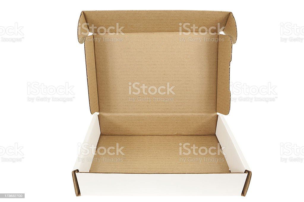 Open Box Isolated (XXXL) royalty-free stock photo