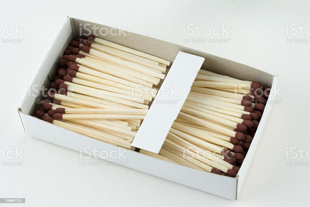 Open box of matches royalty-free stock photo
