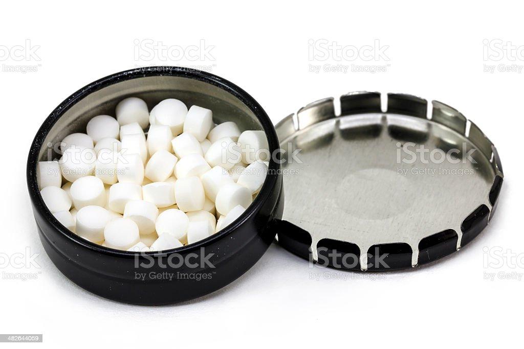 Open Box pills stock photo