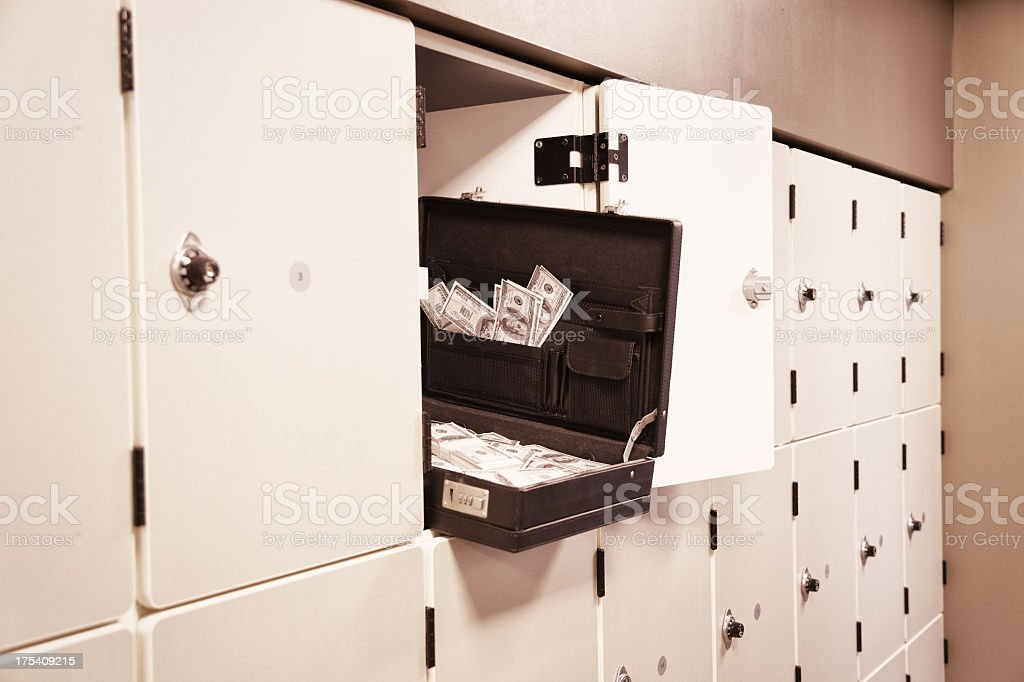 Open Briefcase Full of Money stock photo