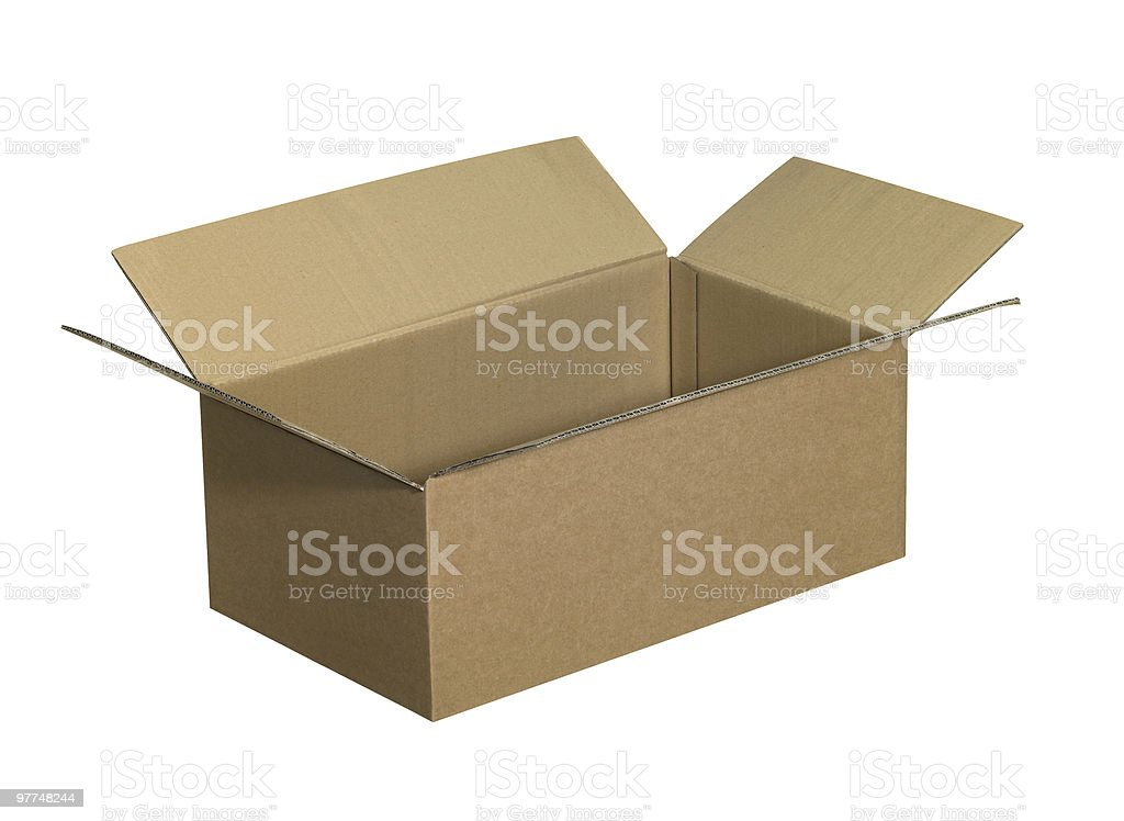 open brown carton royalty-free stock photo