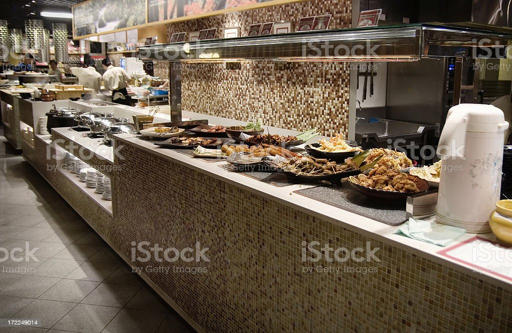 open buffet royalty-free stock photo