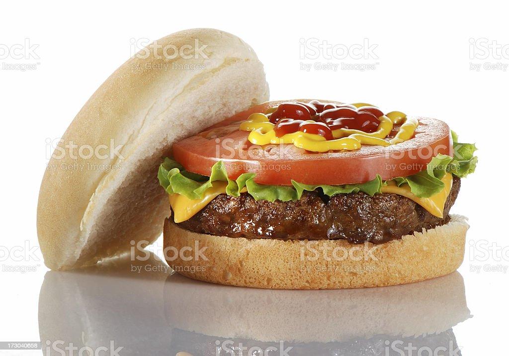 Open burger royalty-free stock photo