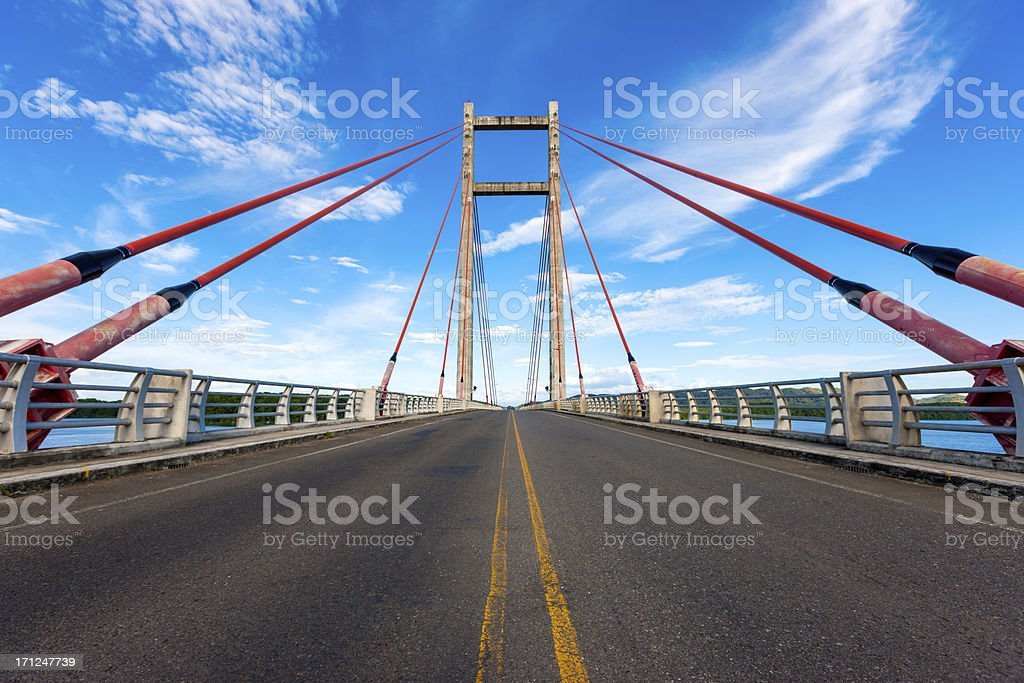 Open Cable-Stayed Bridge stock photo
