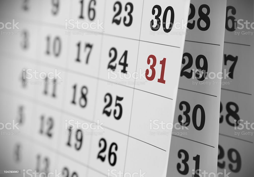 Open Calendar stock photo