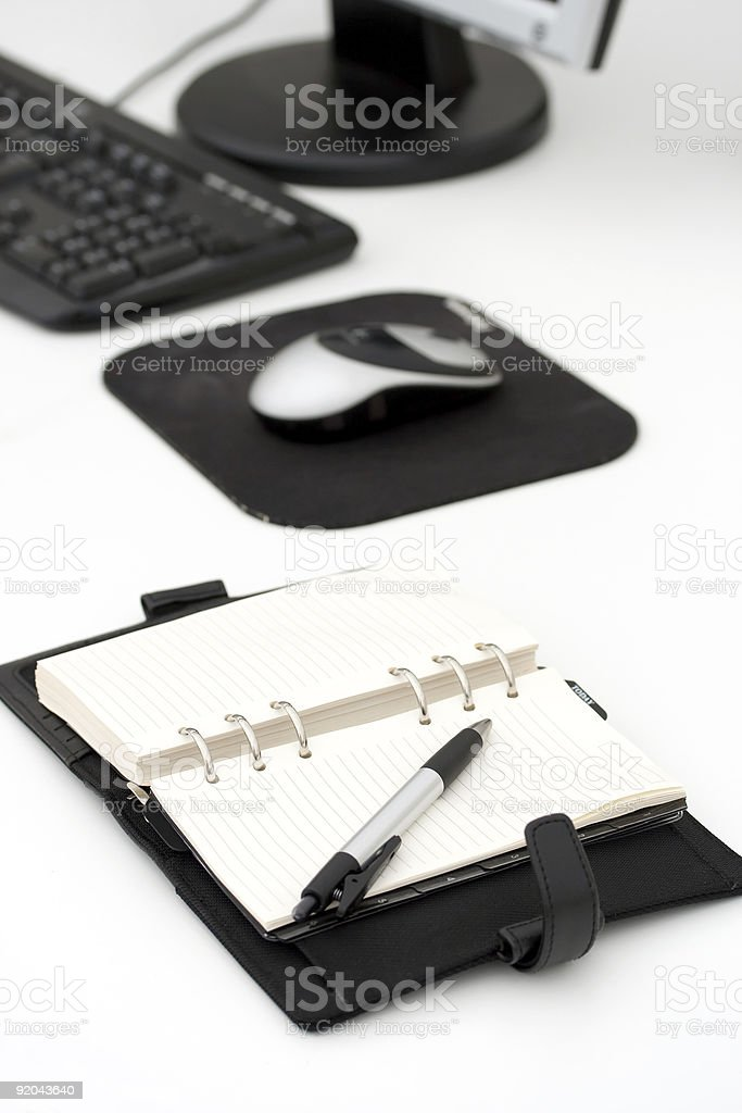 Open calender on office desk royalty-free stock photo