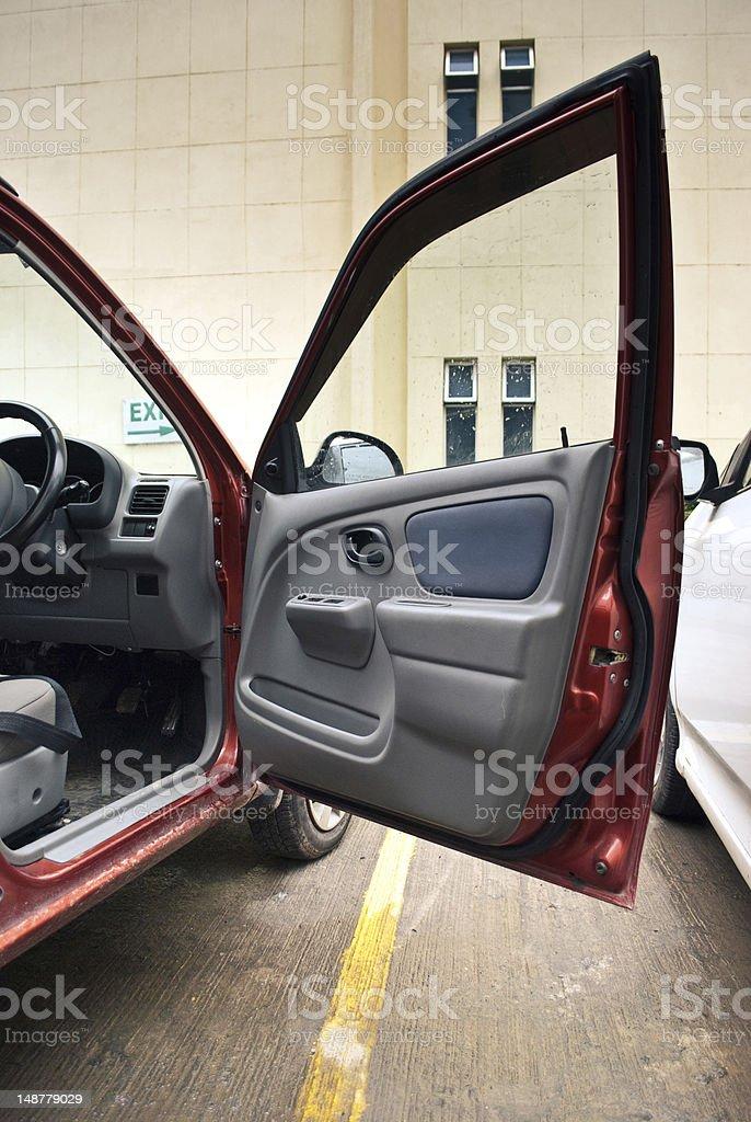 open car door stock photo