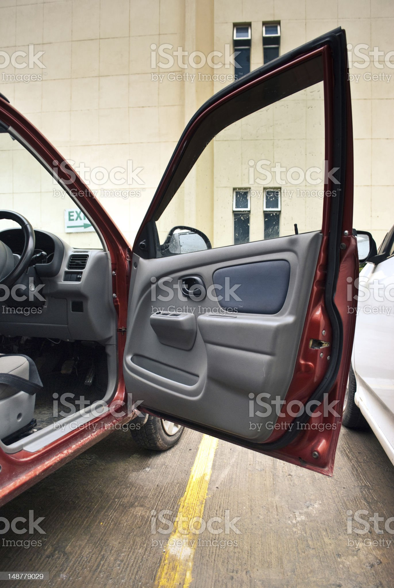 open car door royalty-free stock photo