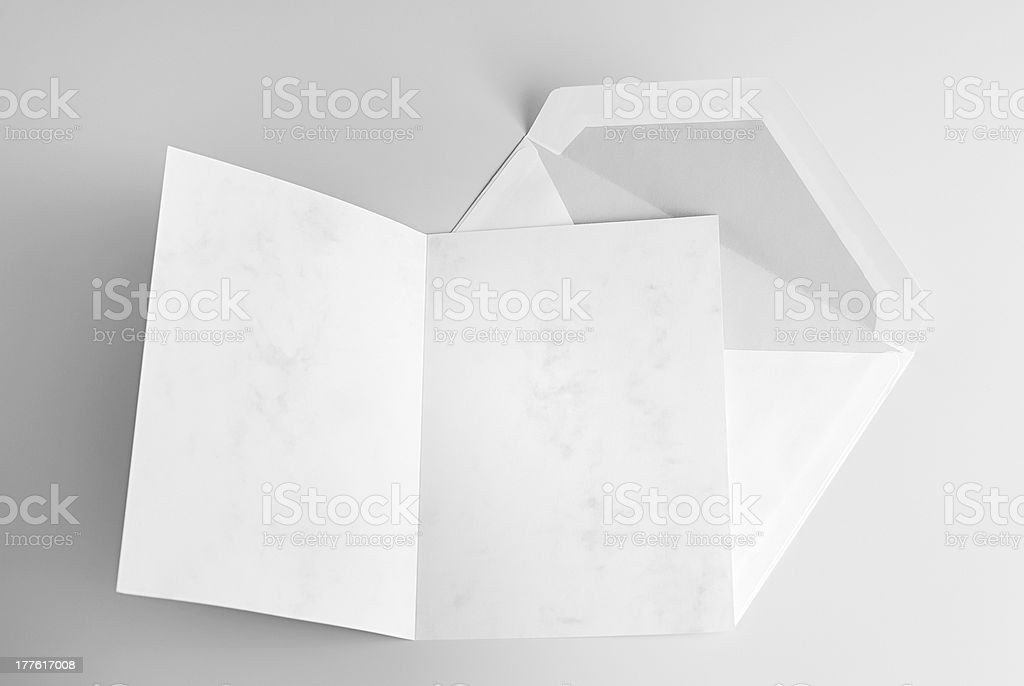 Open card and envelope royalty-free stock photo