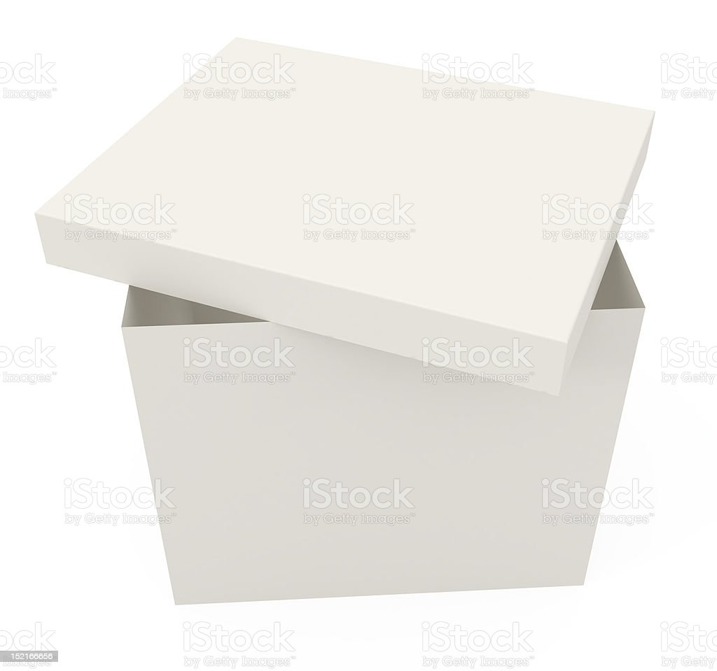 Open Cardboard Box isolated on white royalty-free stock vector art