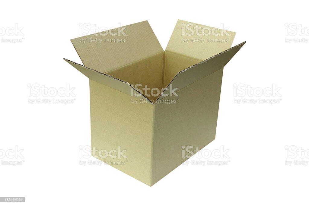 Open Cardboard Box royalty-free stock photo