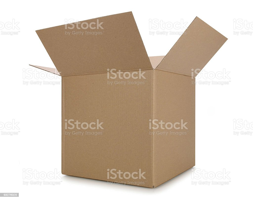 Open Cardboard Box stock photo