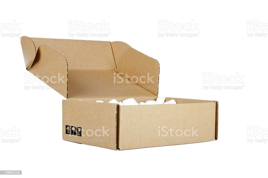 Open cardboard royalty-free stock photo