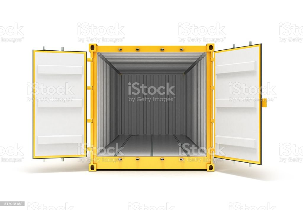 Open Cargo Container stock photo