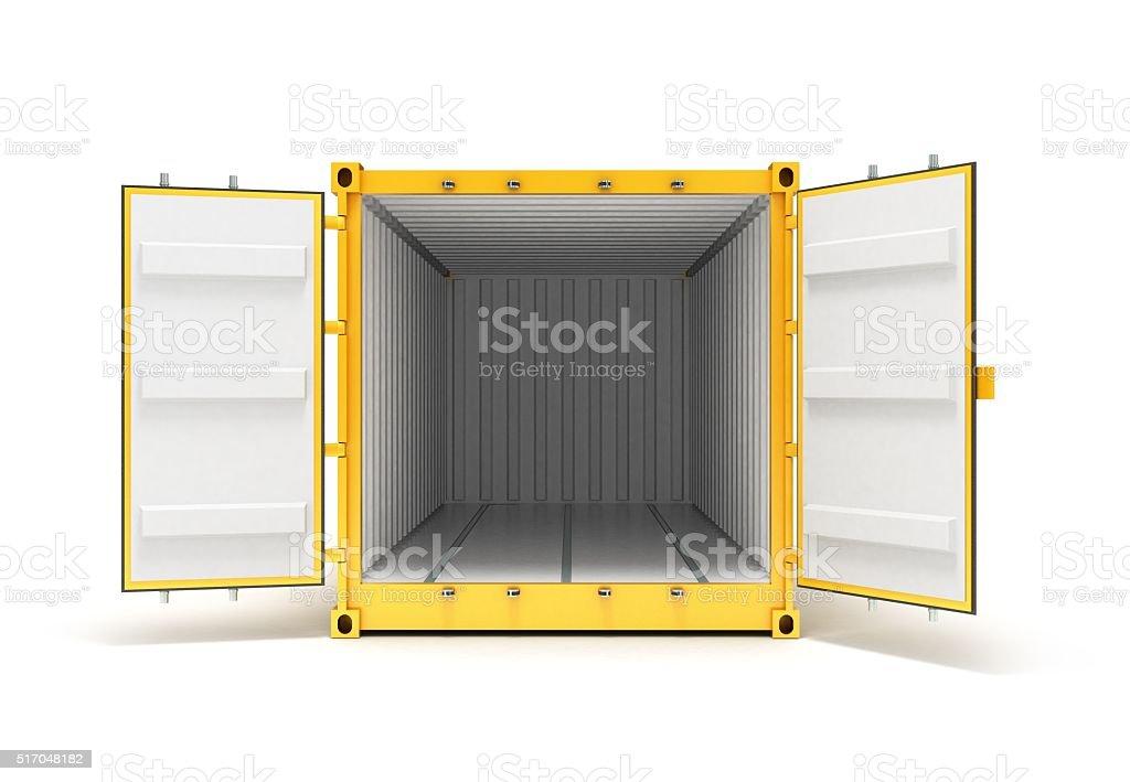 Open Cargo Container stock photo