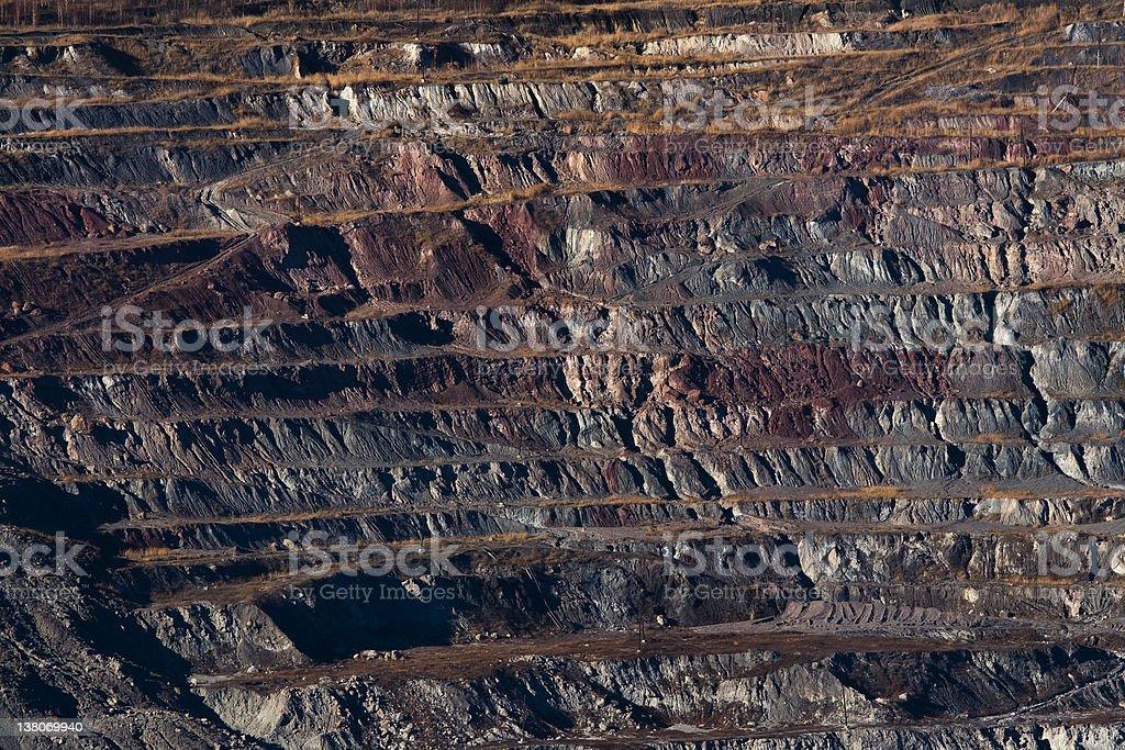 Open Cast Coal Mine royalty-free stock photo