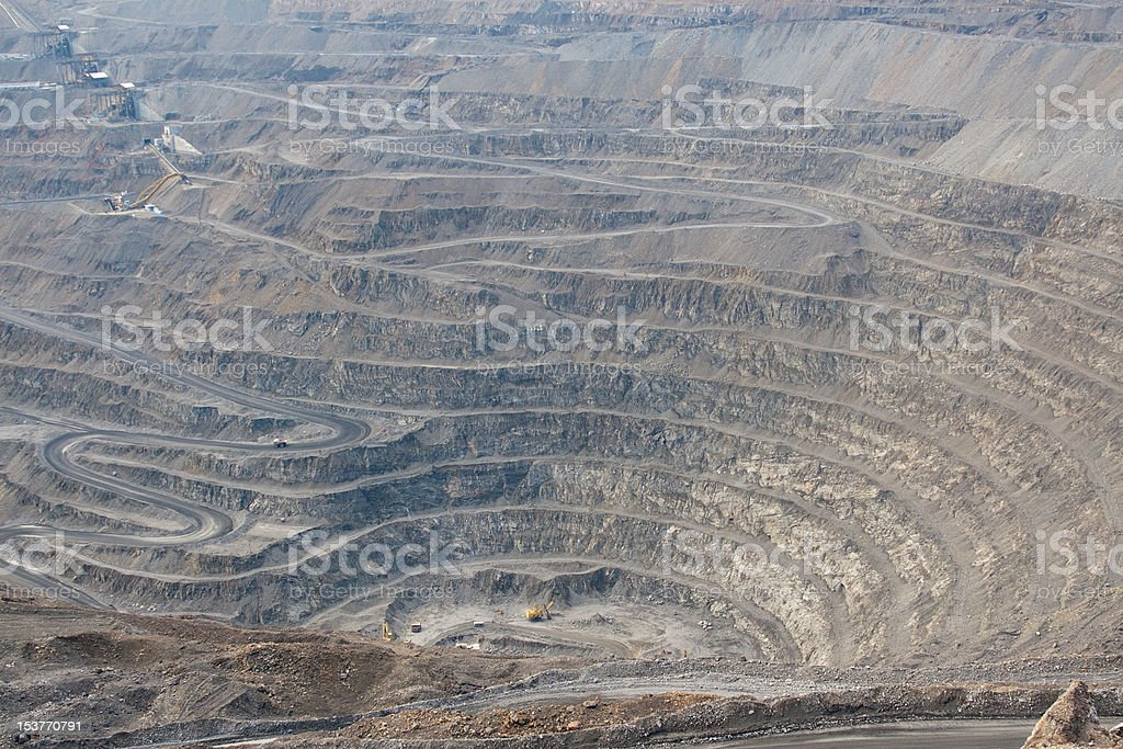 Open Cast Gold Mine royalty-free stock photo