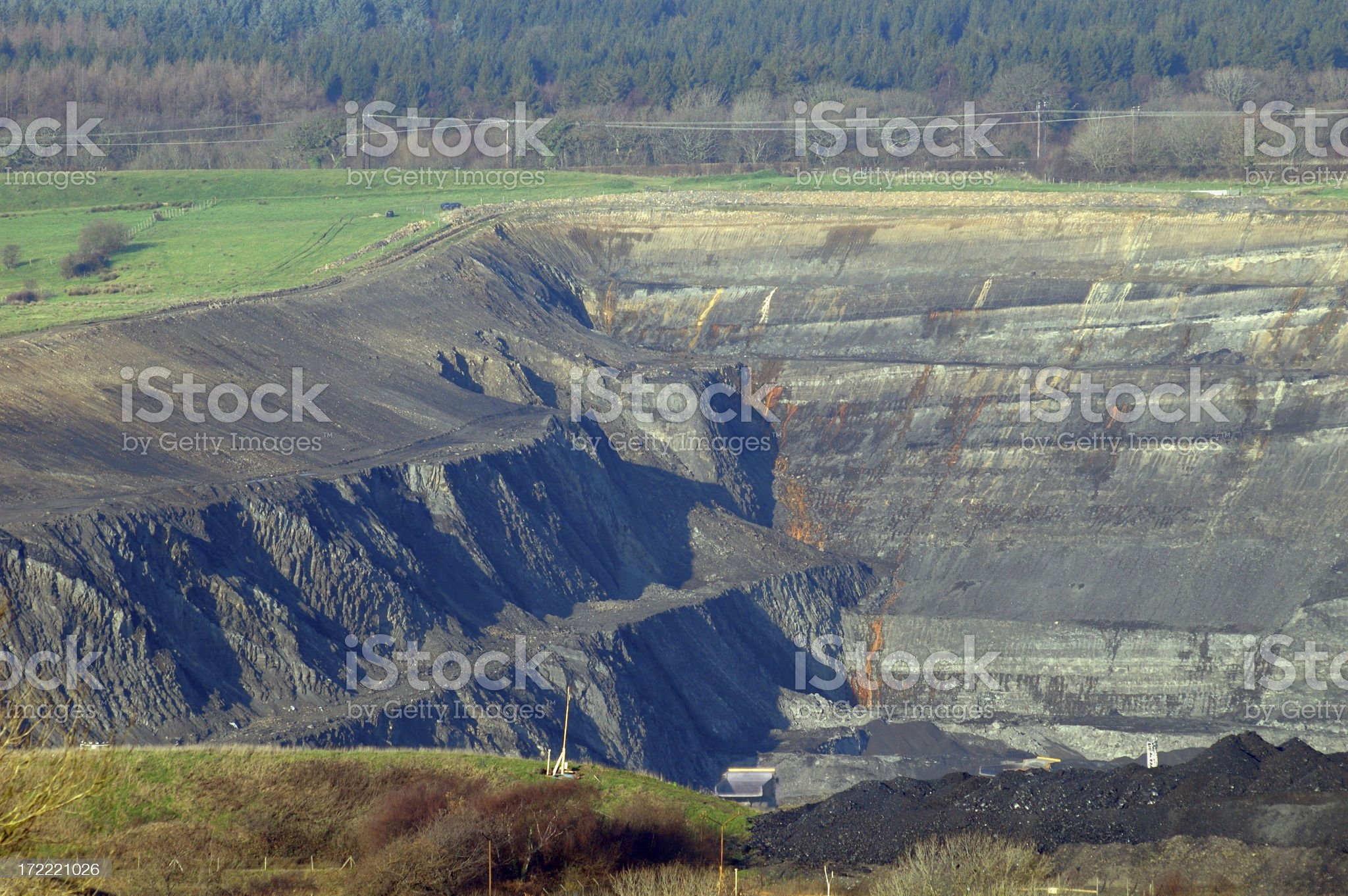 open cast mine royalty-free stock photo