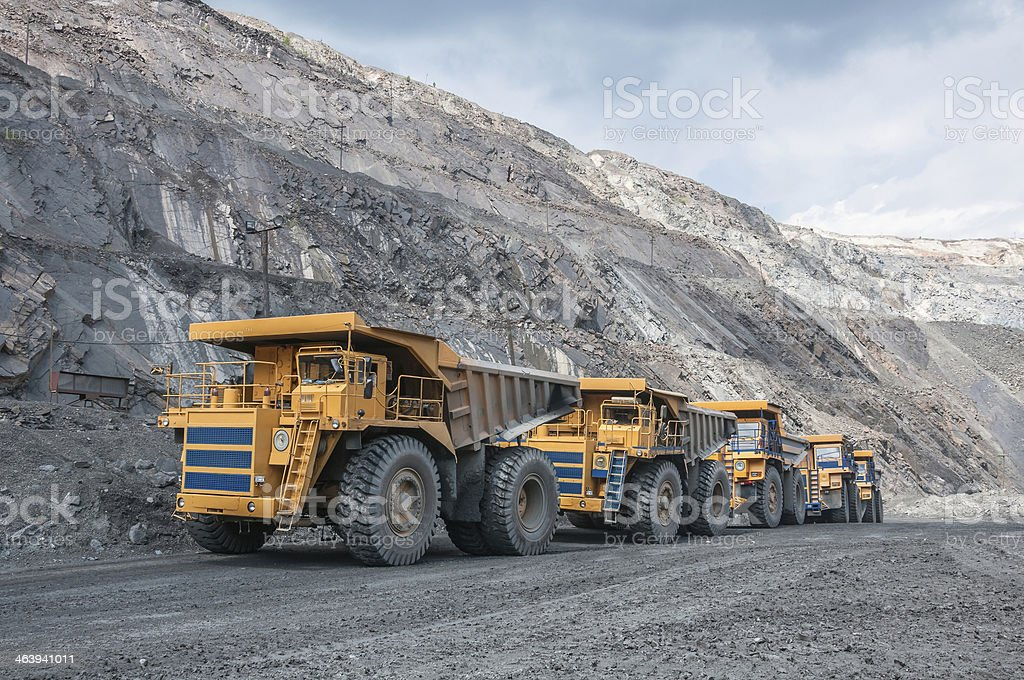 open cast mine stock photo